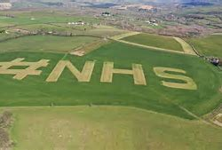 Farmers brilliantly show their support for the NHS